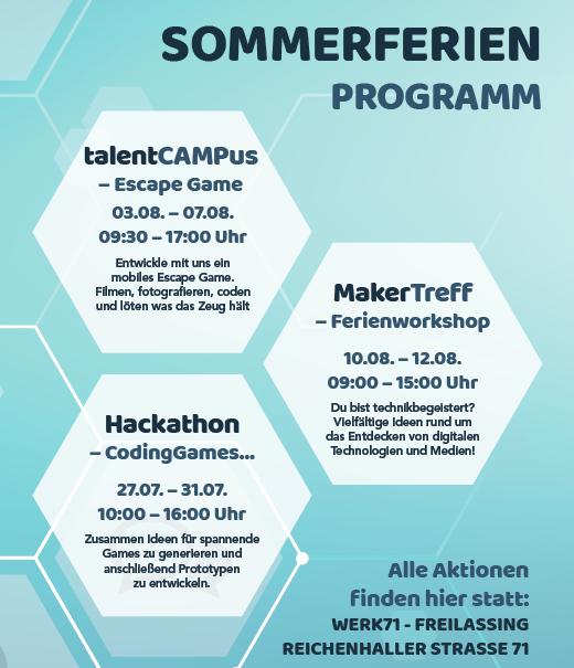Das MedienLabor Sommerferien Programm